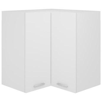 VidaXL Szafka wisząca, narożna, biała, 57x57x60 cm, płyta wiórowa
