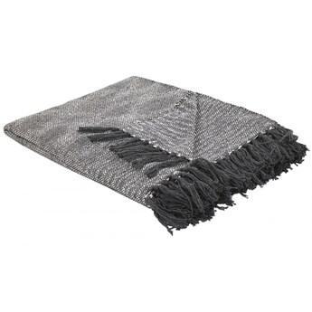 Koc bawełniany 140 x 164 cm jasnoszary KARPUZULU kod: 4251682260213
