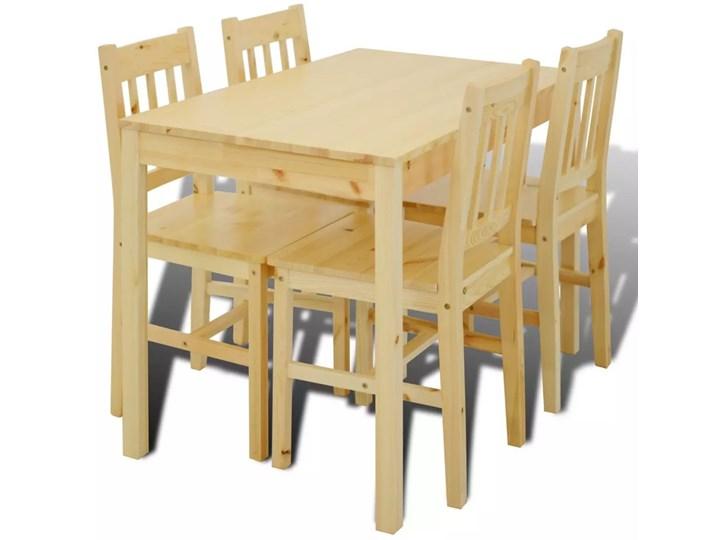 Drewniany zestaw stół i 4 krzesła – Ellen Kategoria Stoły z krzesłami Kolor Beżowy