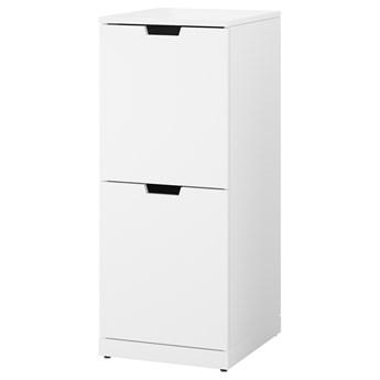 IKEA NORDLI Komoda, 2 szuflady, Biały, 40x99 cm