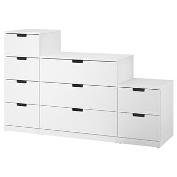 IKEA NORDLI Komoda, 9 szuflad, biały, 160x99 cm