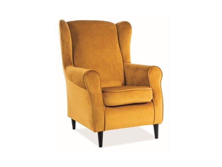 Fotel Uszak Baron Velvet - 9 kolorów antyczny róż Fotel pikowany Tworzywo sztuczne Wysokość 101 cm Drewno Szerokość 75 cm Tkanina Wysokość 53 cm Plusz Głębokość 53 cm Styl Glamour