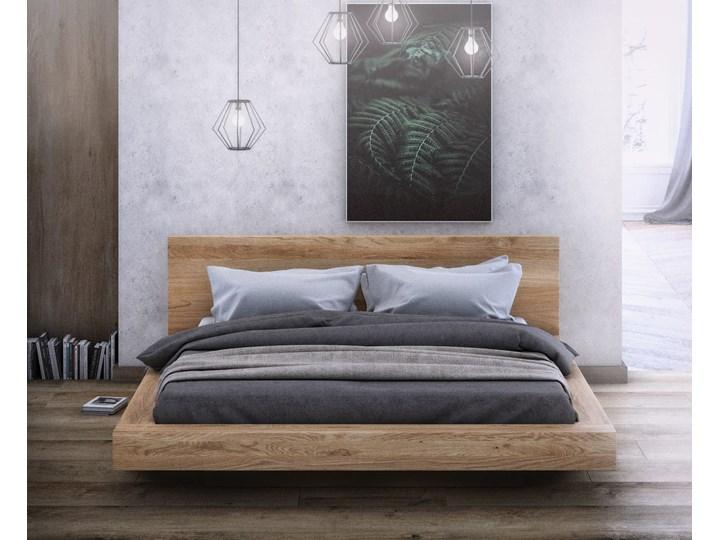 KAMA – łoże 160x200 cm z twardego drewna bukowego, typ lewitujące, z pojemnikiem na pościel