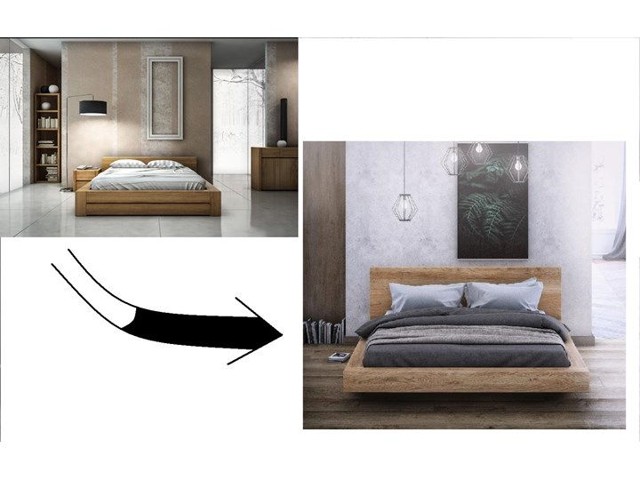 KAMA – łoże 160x200 cm z twardego drewna bukowego, typ lewitujące, z pojemnikiem na pościel Łóżko drewniane Kategoria Łóżka do sypialni