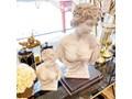 POPIERSIE DUŻE DEKORACYJNE BIAŁE DECORATIVE BUST NO 2 34x18x49H cm Kolor Biały Tworzywo sztuczne Kamień Kategoria Figury i rzeźby