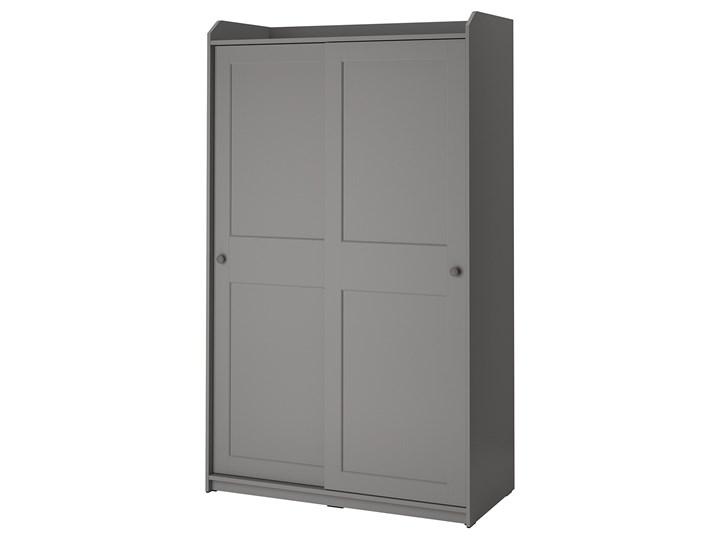 IKEA HAUGA Szafa z drzwiami przesuwanymi, Szary, 118x55x199 cm Płyta MDF Pomieszczenie Przedpokój
