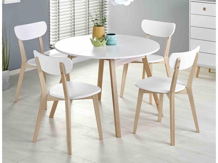 Skandynawski stół z okrągłym blatem Ruben Rozkładanie Rozkładane