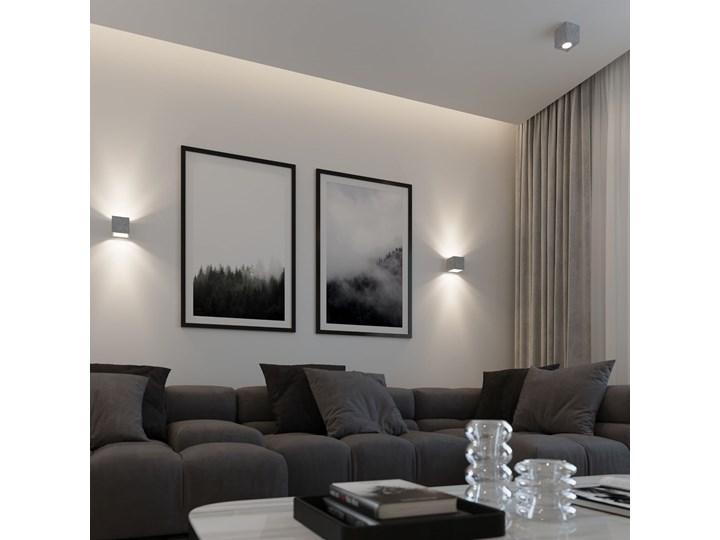 Sollux Lampa PLAFON QUAD 1 BETON Oprawa na Sufit Szary Kwadrat LEd Gu10 Oprawa led Oprawa stropowa Kwadratowe Oprawa halogenowa Kategoria Oprawy oświetleniowe