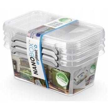 Zestaw pojemników na żywność ORPLAST NanoBox 0.5 L 3 szt.