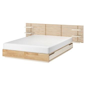 IKEA MANDAL Rama łóżka, zagłówek, brzoza/biały, 160x202 cm