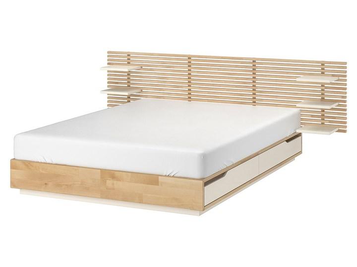 IKEA MANDAL Rama łóżka, zagłówek, brzoza/biały, 140x202 cm