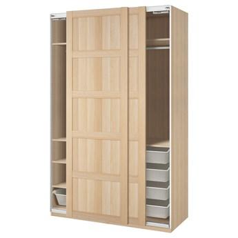 IKEA PAX / BERGSBO Kombinacja szafy, dąb bejcowany na biało, 150x66x236 cm