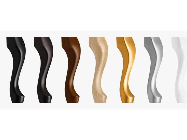 Ławka pikowana Exclusive Black Materiał nóżek Drewno Materiał obicia Tkanina