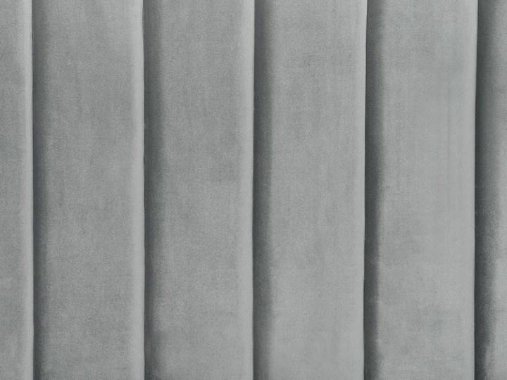 Łóżko szare welurowe dwuosobowe 180 x 200 cm ze stelażem zagłówek retro Łóżko tapicerowane Kategoria Łóżka do sypialni