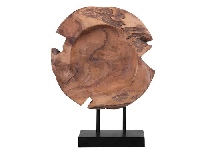 Figurka dekoracyjna ryba jasne drewno tekowe 41 x 31 cm styl rustykalny Kategoria Figury i rzeźby Rośliny Zwierzęta Ryby Kolor Brązowy