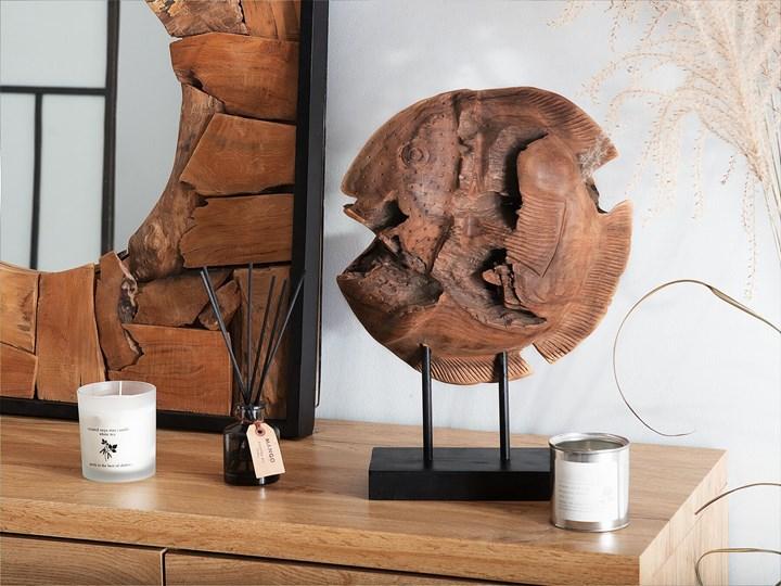 Figurka dekoracyjna ryba jasne drewno tekowe 41 x 31 cm styl rustykalny Ryby Zwierzęta Rośliny Kategoria Figury i rzeźby