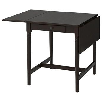 IKEA INGATORP Stół z opuszczanym blatem, Czarnobrąz, 65/123x78 cm