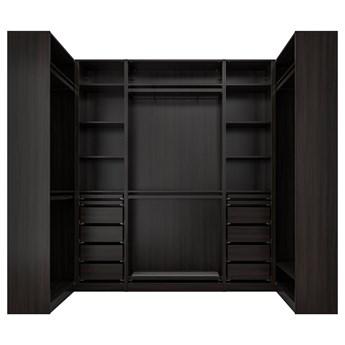 IKEA PAX Szafa narożna, czarnybrąz, 113/276/113x236 cm