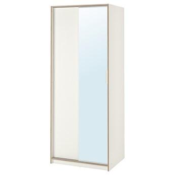 IKEA TRYSIL Szafa, biały/lustro, 79x61x202 cm