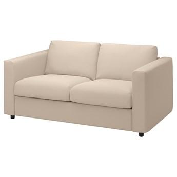 IKEA VIMLE Sofa 2-osobowa, Hallarp beżowy, Wysokość z poduchami oparcia: 83 cm