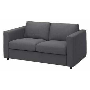 IKEA VIMLE Sofa 2-osobowa, Hallarp szary, Wysokość z poduchami oparcia: 83 cm