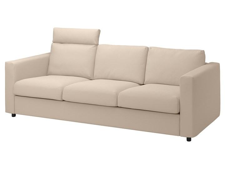 IKEA VIMLE Sofa 3-osobowa, z zagłówkiem/Hallarp beżowy, Wysokość z zagłówkiem: 103 cm Typ Gładkie
