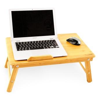 Bambusowy stolik GoEco® na laptopa, śniadanie do łóżka