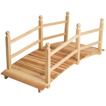 Drewniany most ogrodowy kładka do 150 kg - brązowy