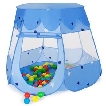 Namiot dla dzieci plus 100 piłek - niebieski