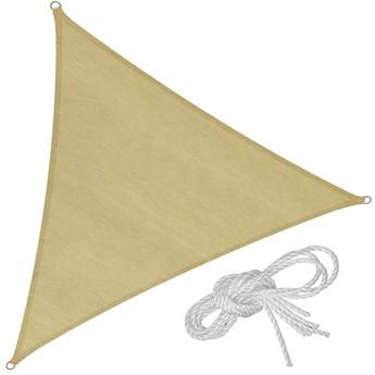 Markiza trójkątna z ochroną UV, beżowy - 400 x 400 x 400 cm