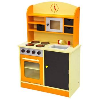Drewniana kuchnia dla dzieci - pomarańczowy