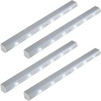 4 listwy oświetleniowe LED z czujnikiem ruchu - szary
