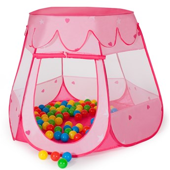 Namiot dla dzieci plus 100 piłek - pink