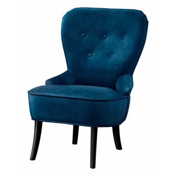 IKEA REMSTA Fotel, Djuparp ciemnozielononiebieski, Szerokość: 60 cm