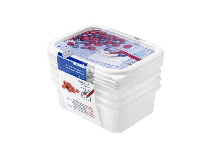 Zestaw pojemników na żywność ROTHO Domino 1755110234 4 szt. Żaroodporny Tworzywo sztuczne Kategoria Pojemniki i puszki