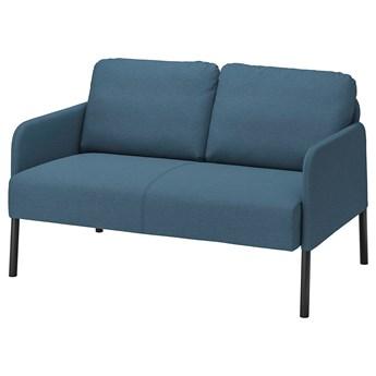 IKEA GLOSTAD Sofa 2-osobowa, Knisa średnioniebieski, Wysokość podłokietnika: 57 cm