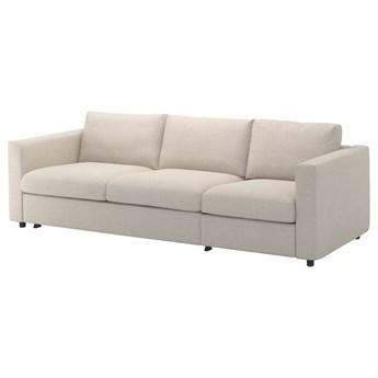 IKEA VIMLE Rozkładana sofa 3-osobowa, Gunnared beżowy, Wysokość łóżka: 53 cm