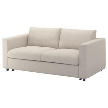 IKEA VIMLE Sofa 2-osobowa rozkładana, Gunnared beżowy, Wysokość łóżka: 53 cm