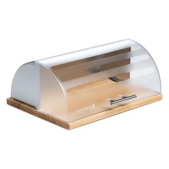 Chlebak na drewnianej podstawie Logan