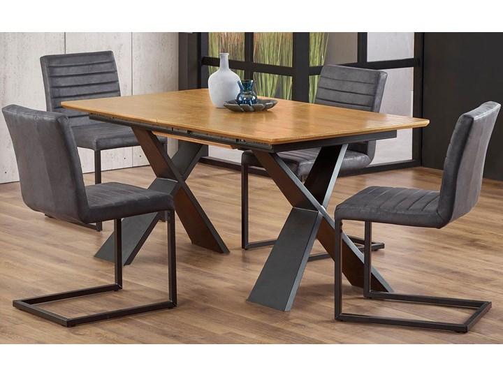 Loftowy stół rozkładany Eden - dąb naturalny Długość 220 cm Długość 90 cm  Szerokość 90 cm Styl Industrialny Drewno Wysokość 75 cm Rozkładanie Rozkładane