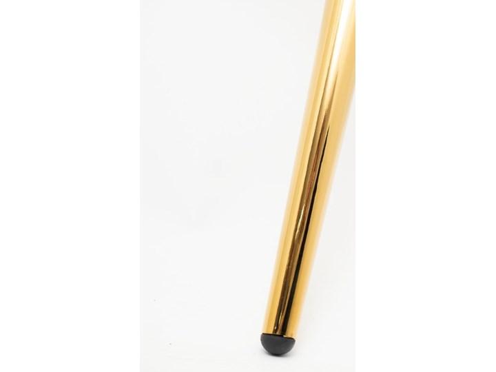 Krzesło tapicerowane Kukka velvet / złote nóżki Styl Glamour Tworzywo sztuczne Wysokość 88 cm Szerokość 53 cm Głębokość 57 cm Tkanina Metal Krzesło inspirowane Pomieszczenie Jadalnia