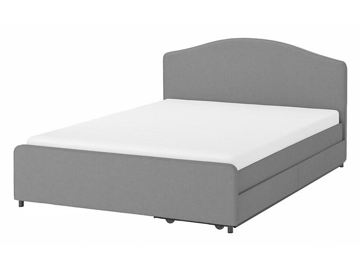 IKEA HAUGA Łóżko tapicerowane, 2 poj na pośc, Vissle szary, 160x200 cm