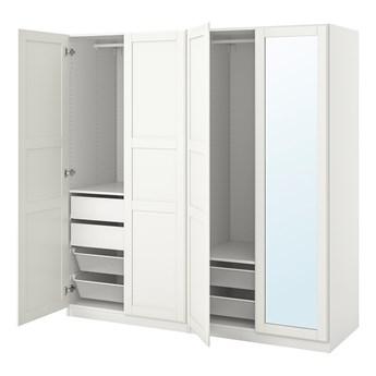 IKEA PAX / TYSSEDAL Kombinacja szafy, biały/lustro, 200x60x201 cm