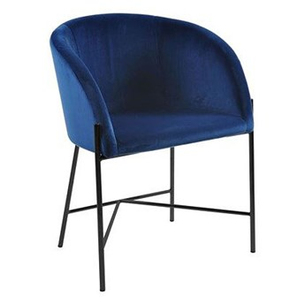 Niebieskie krzesło tapicerowane - Amazon 2X