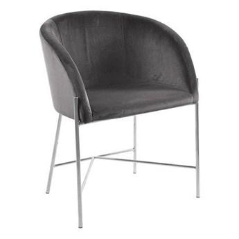Ciemnoszare krzesło tapicerowane do jadalni - Amazon 3X