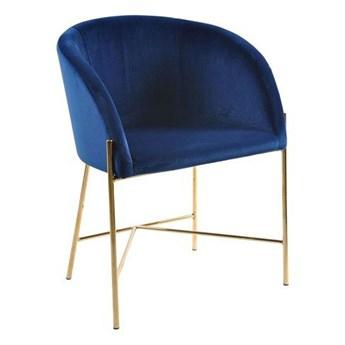 Niebieskie tapicerowane krzesło z podłokietnikami - Amazon 4X