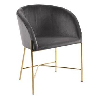 Szare welurowe krzesło tapicerowane - Amazon 4X