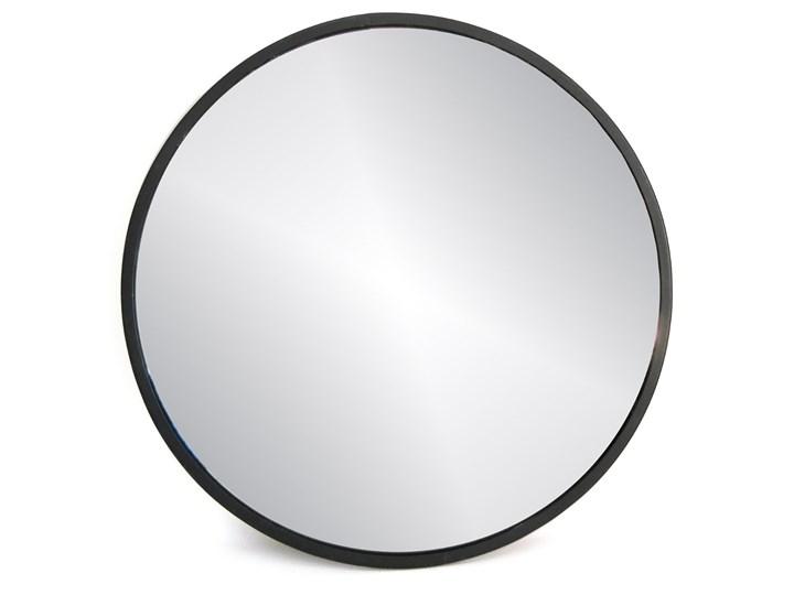 Lustro ścienne wiszące czarne SIMPLE - 40x40 cm Lustro z ramą Okrągłe Kategoria Lustra
