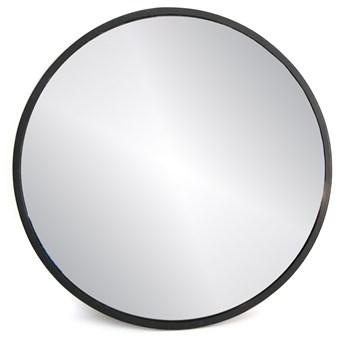 Lustro ścienne wiszące czarne SIMPLE - 50x50 cm
