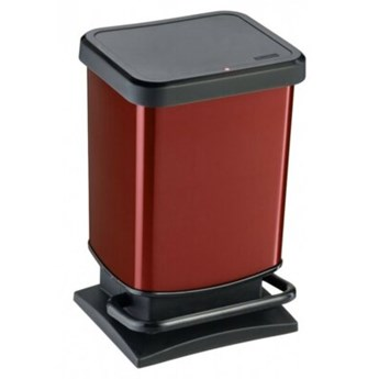 Kosz na śmieci ROTHO 17540 Paso 20 L Czerwony